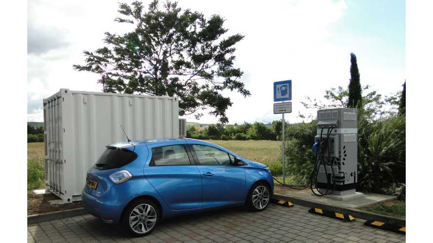 Renault Finds Second-Life For EV Batteries At Highway Charging Stations