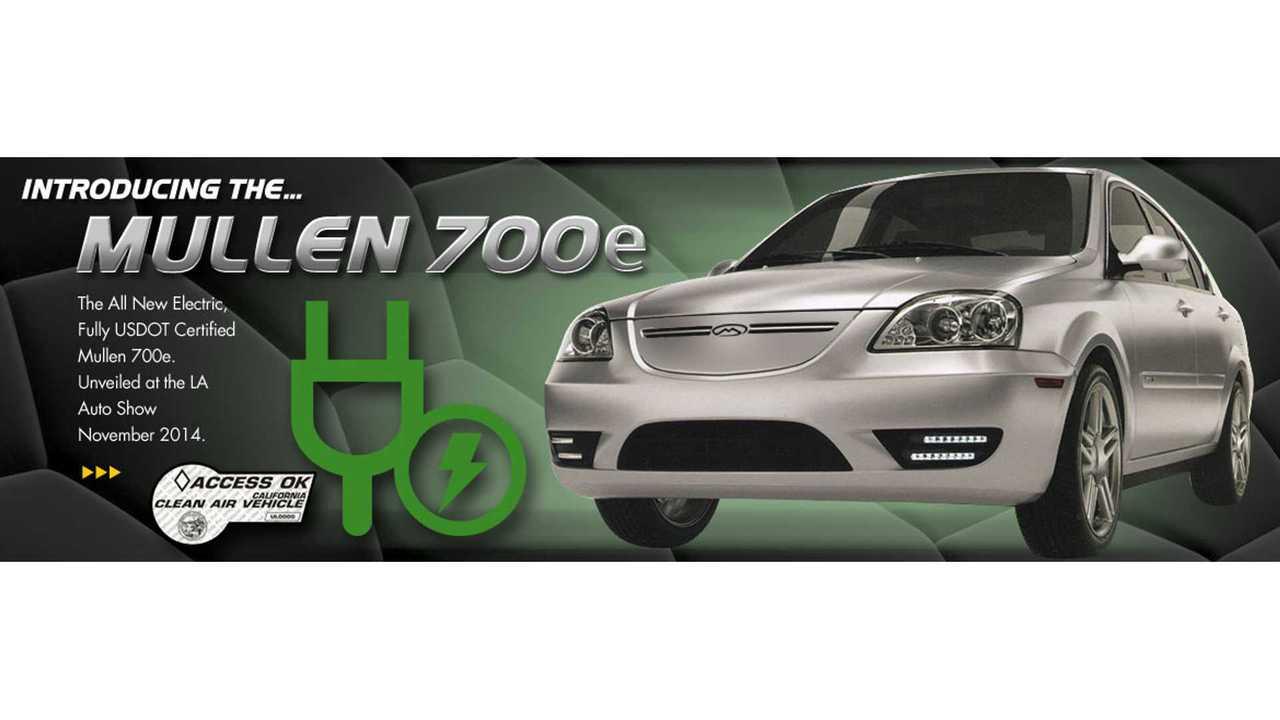 Coda Sedan Gets Rebirth As Mullen 700e At 2014 LA Auto Show