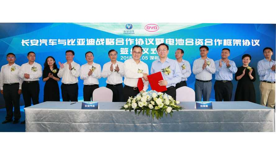 BYD & Changan Automobile To Launch Battery Joint Venture