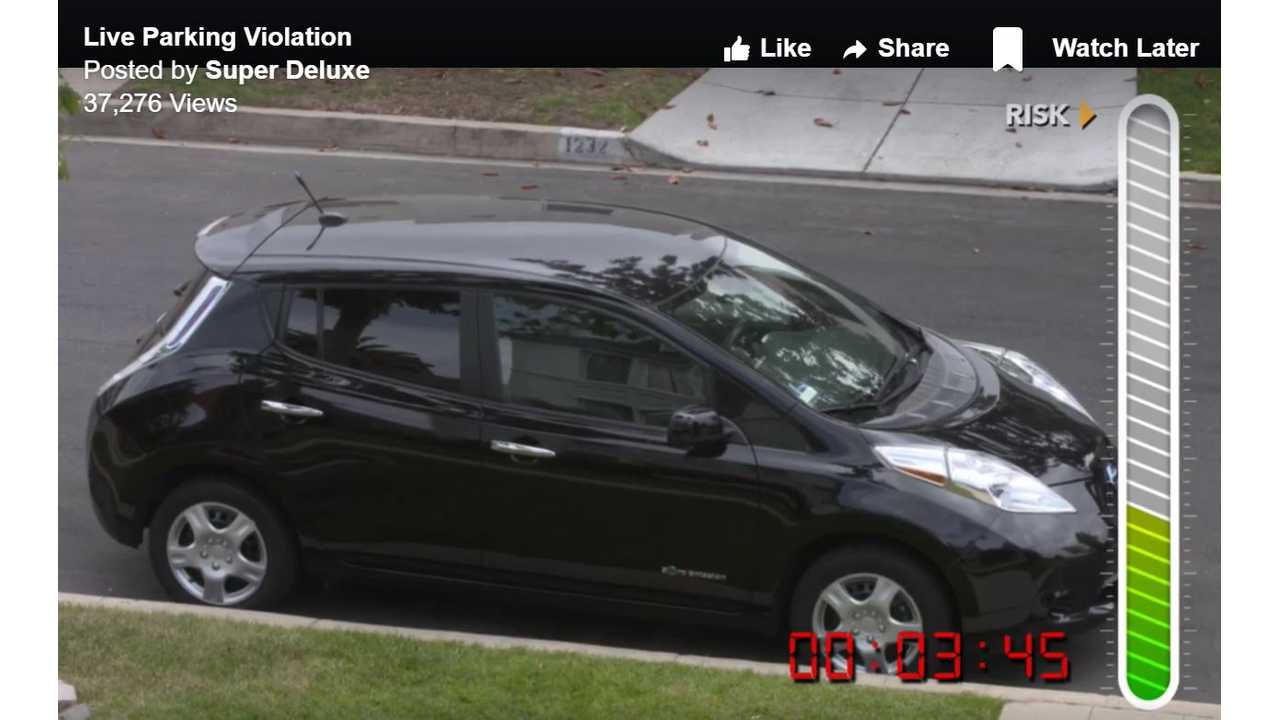 Thousands Watch As Nissan LEAF Gets Ticketed - Video