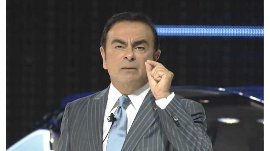 "Ghosn: EV Sales Are Driven By ""Mainly State And Company Incentives"""