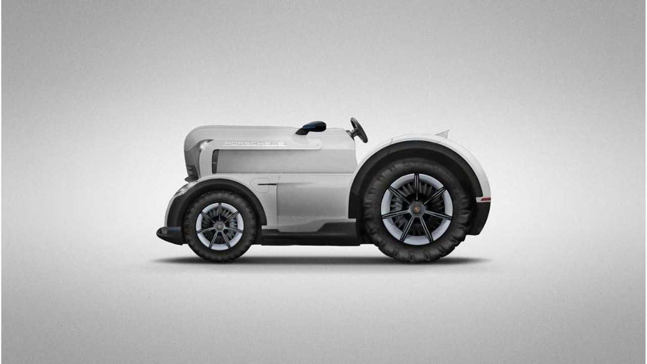 Porsche Mission E Tractor Actually Makes Perfect Sense