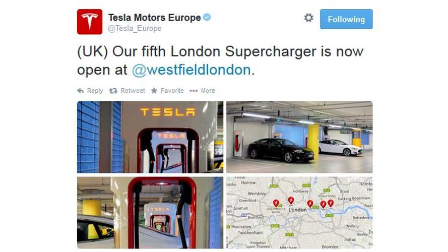 London Gets Its 5th Tesla Supercharger