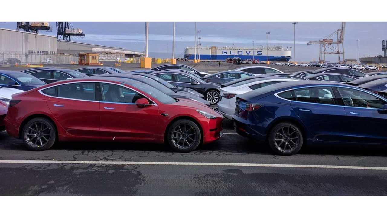 Четырехзначный номер модели Tesla 3s прибыл в Европу