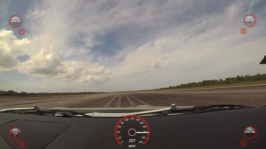 Modified Nissan GT-R top speed run