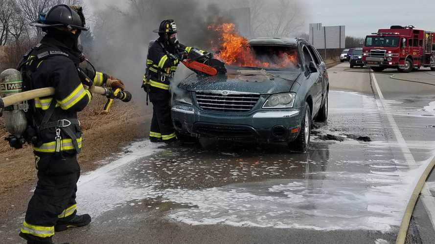 Woman drives used car 22 minutes before it goes up in flames