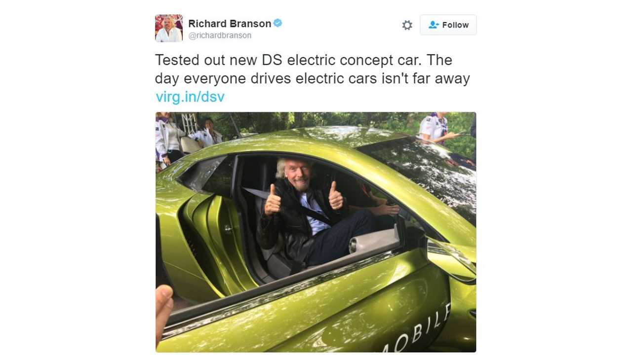 Richard Branson: By 2031, All Cars On The Roads Will Be Electric (w/video)