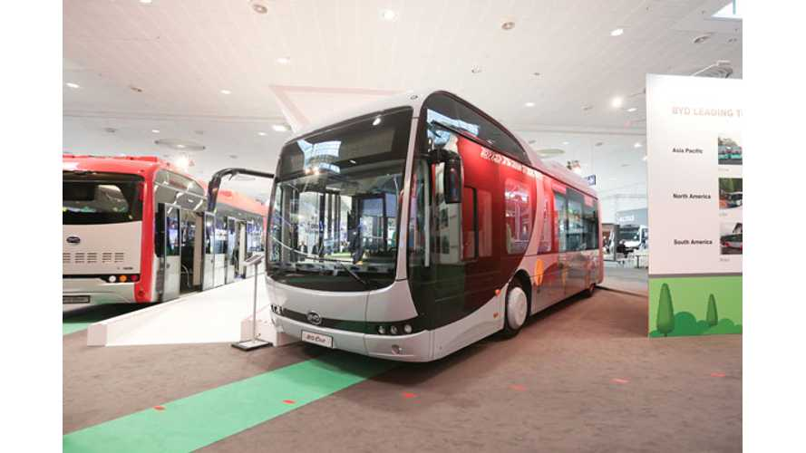 BYD Sold Over 600 Electric Buses In Europe