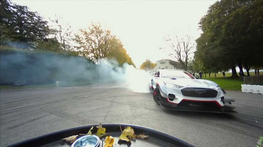 Watch Ford Mustang Mach-E 1400 silently shred Driftkhana at Goodwood