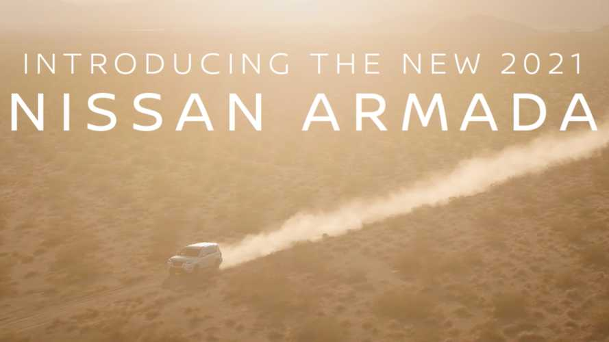 2021 Nissan Armada Teased Revealing A New Face For The Rugged SUV