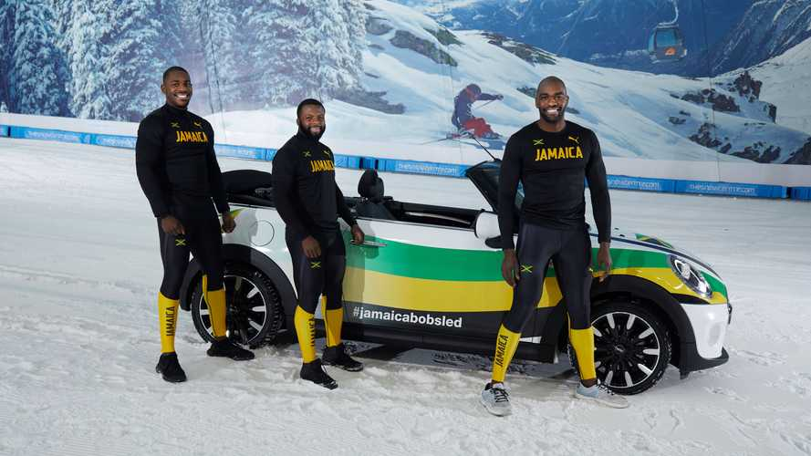 Jamaican Bobsleigh team takes to the slopes in Mini Convertible