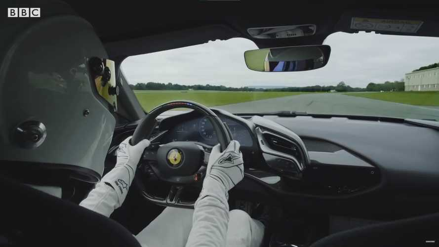 Watch the Stig set new Top Gear track record with a Ferrari SF90 Stradale