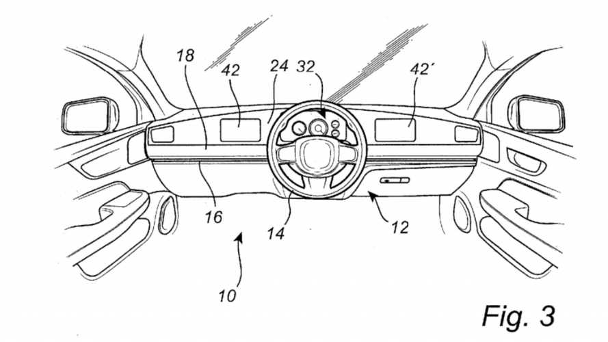 Volvo Patents Steering Wheel That Slides Across A Car's Dashboard