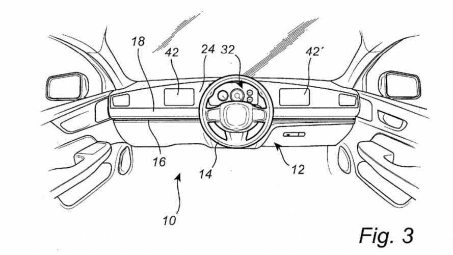 Volvo Sliding Steering Wheel Patent