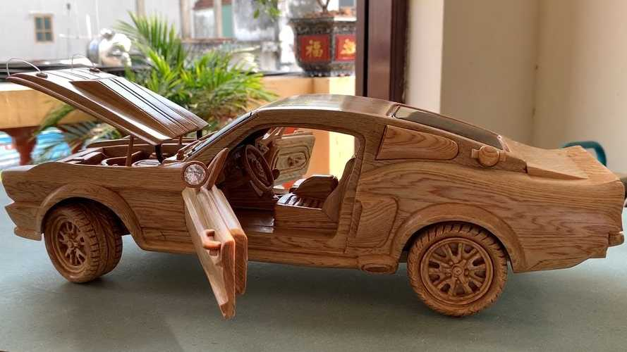 1967 Ford Mustang Wood Carving Is Automotive Art At Its Finest