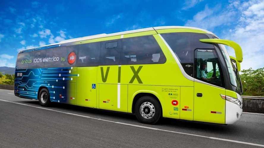 Primeiro ônibus 100% elétrico rodoviário inicia operações no Brasil