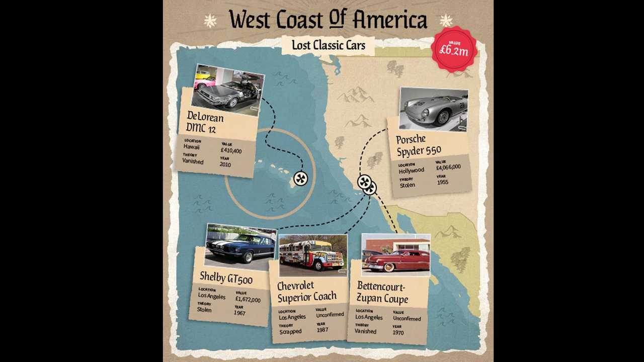 Automotive Treasure Map Shows Last Known Locations Of Lost Iconic Cars