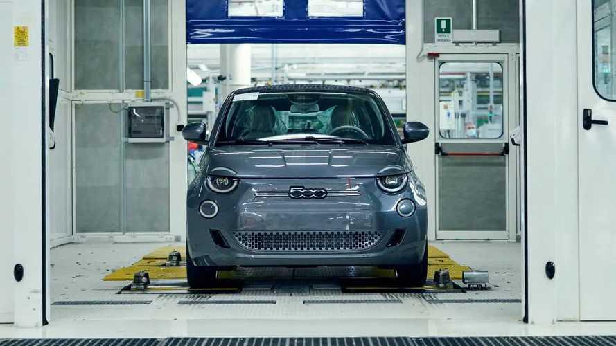 Fiat 500 elétrico - linha de produção na fábrica de Mirafiori