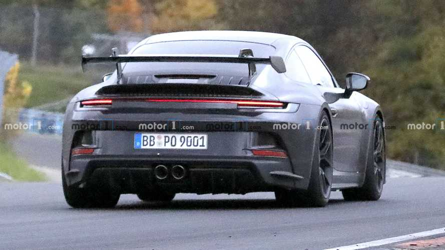 Porsche 911 GT3 (2021) Erlkönig nahezu ungetarnt