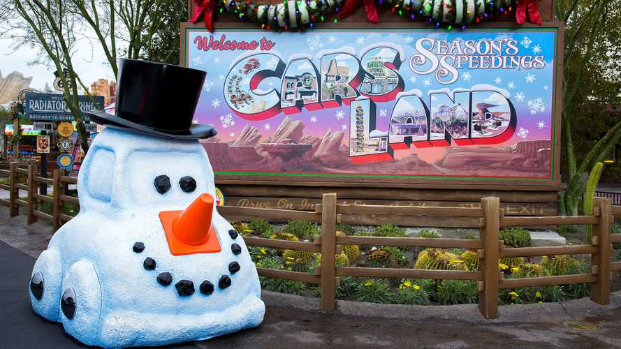Check Out Disney's Cars Land All Dressed Up For The Holidays