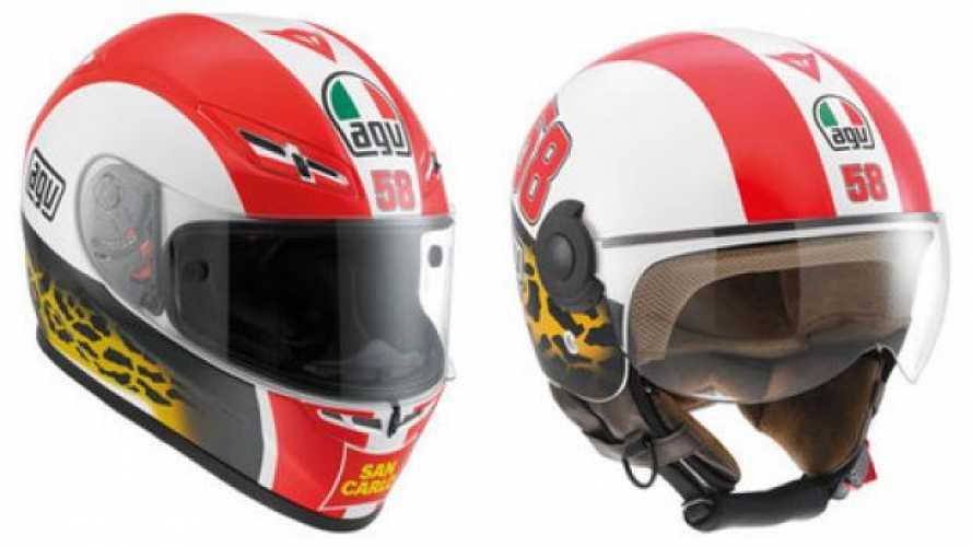 AGV: Simoncelli Tribute Helmets