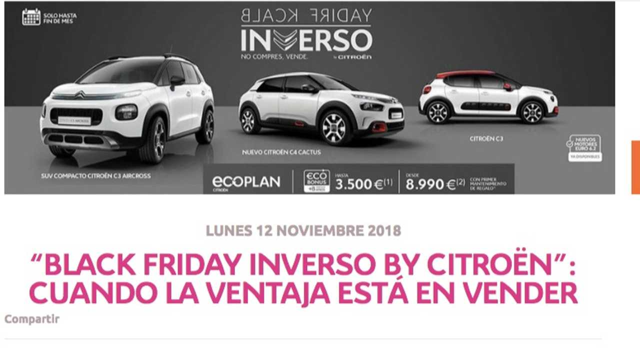 Black Friday Inverso by Citroën