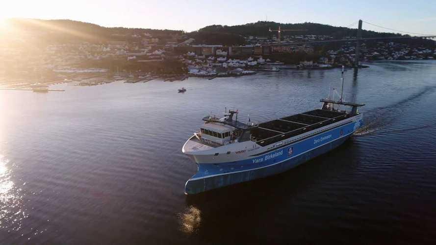 Yara Birkeland Electric Container Ship To Go Crewless