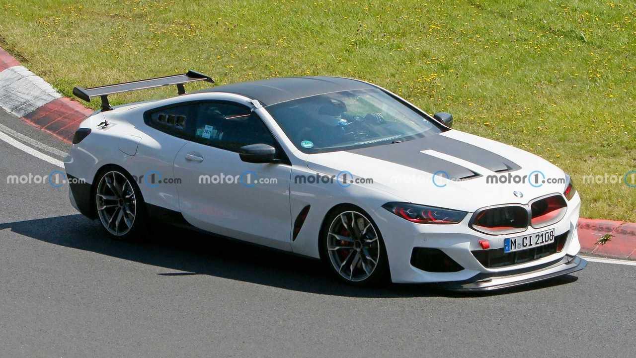 BMW M8 Testing Accessories