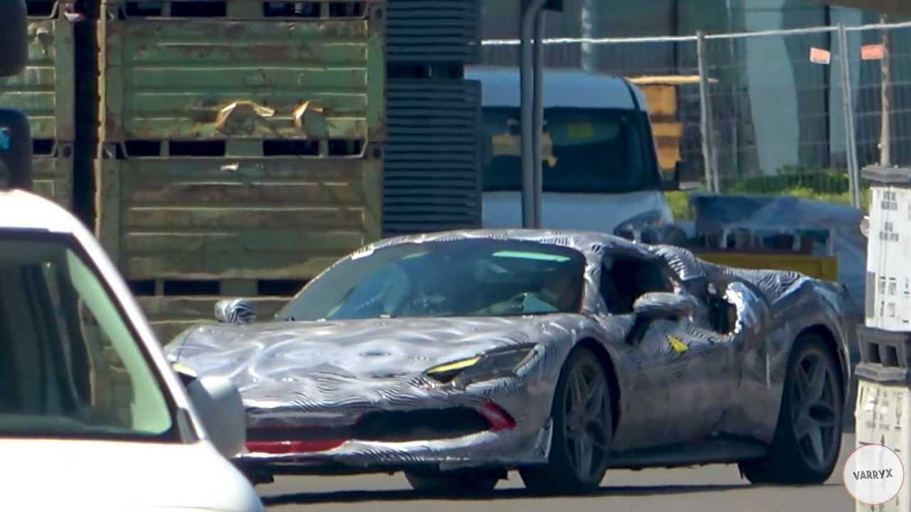 Ferrari 296 GTS screenshot from spy video