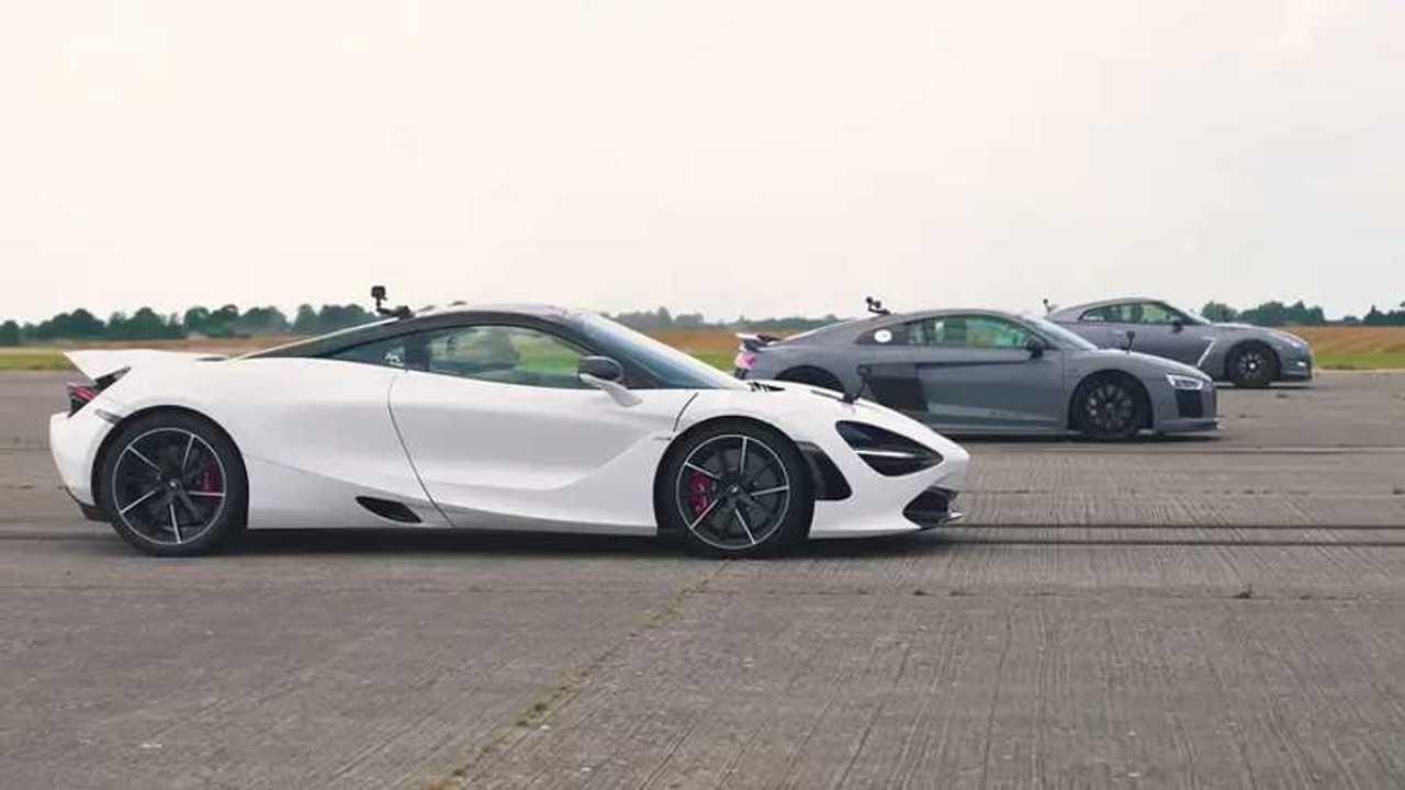 Nissan GT-R vs. Audi R8 vs. McLaren 720S