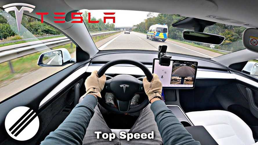 Watch Tesla Model Y Go From 0 To Top Speed On Autobahn
