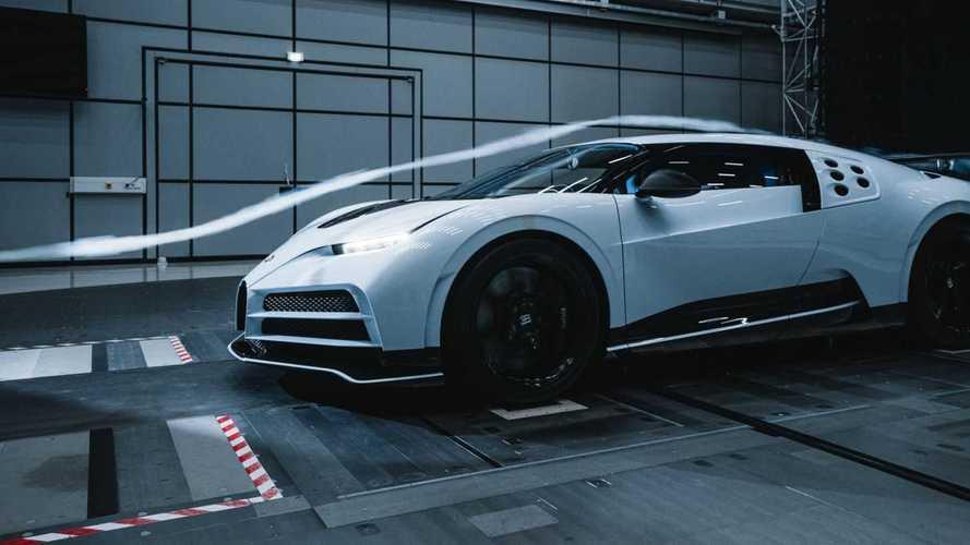 Vídeo: el Bugatti Centodieci en el túnel de viento