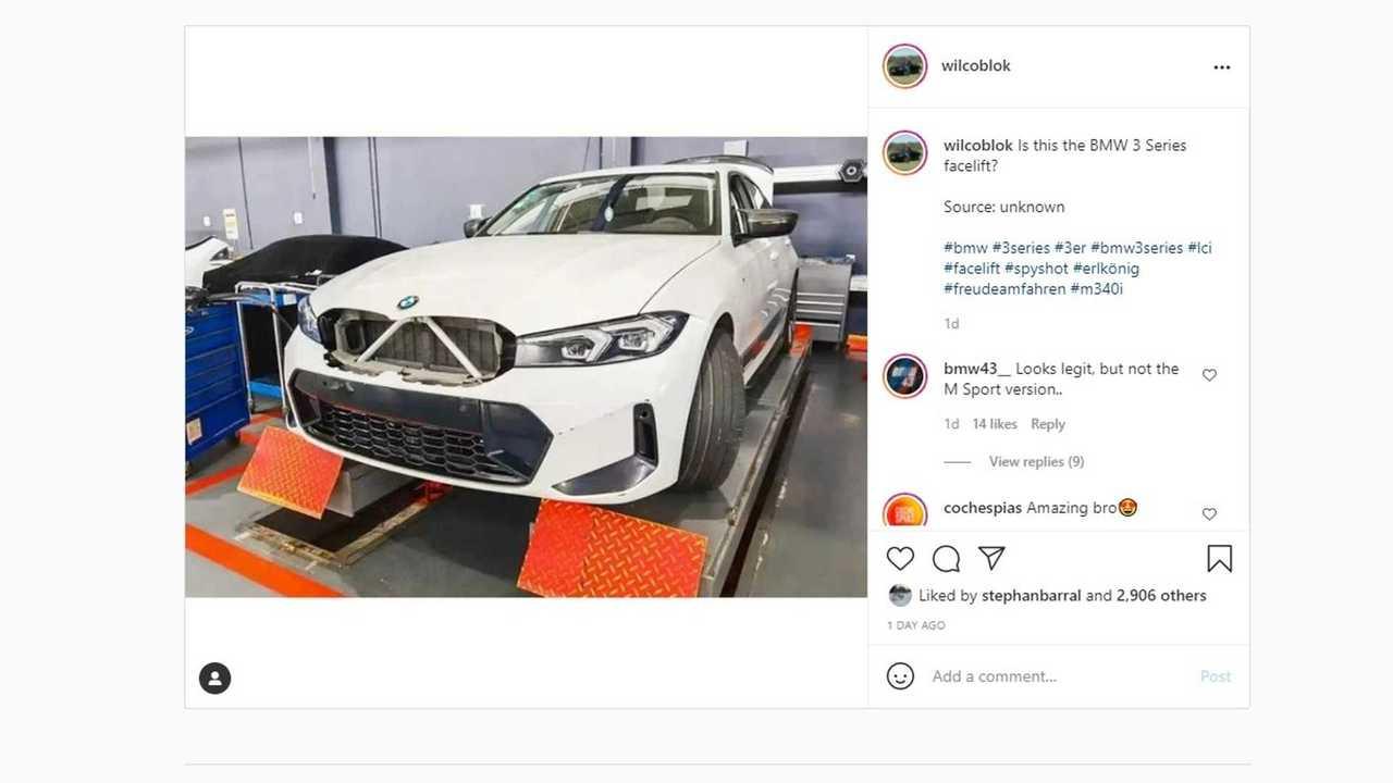 2022 BMW 3 Series spy photo