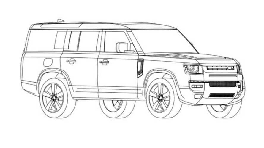 2023 Land Rover Defender 130 Patent Images Possibly Leaked
