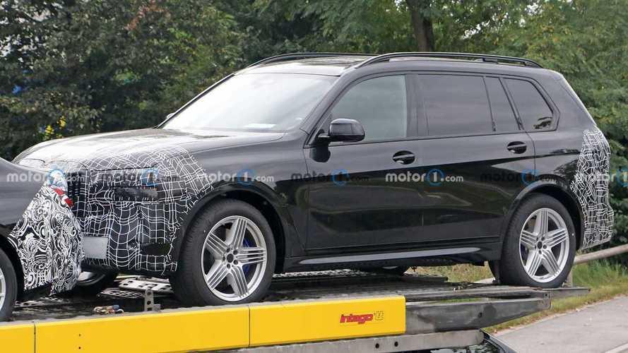 New Alpina XB7 makes spy photo debut sitting on transport trailer