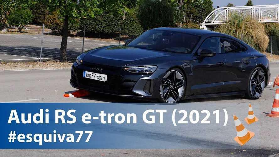 L'Audi RS e-tron GT face au test d'évitement