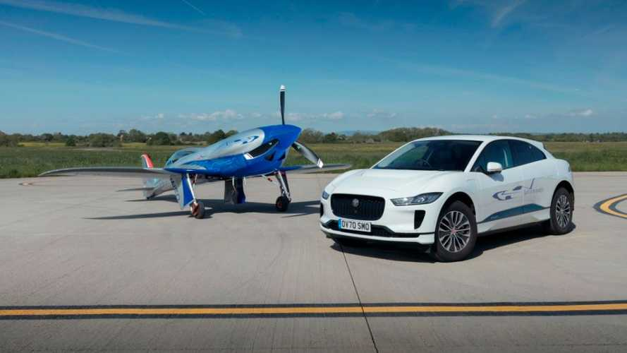 Jaguar I-Pace поможет электросамолету установить рекорд скорости