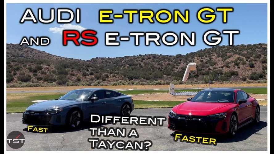Videó: Érezni-e bármilyen különbséget vezetés közben az Audi e-tron GT és a Porsche Taycan között?