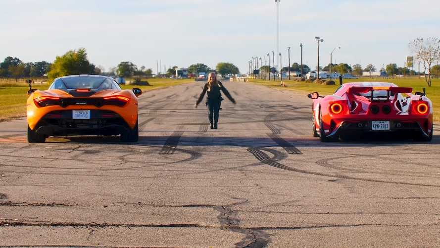 McLaren 720S vs Ford GT drag race is far from a photo finish