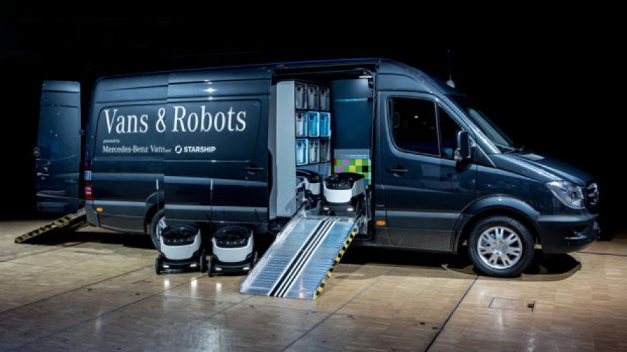 Mercedes-Benz investe nei robot per le consegne