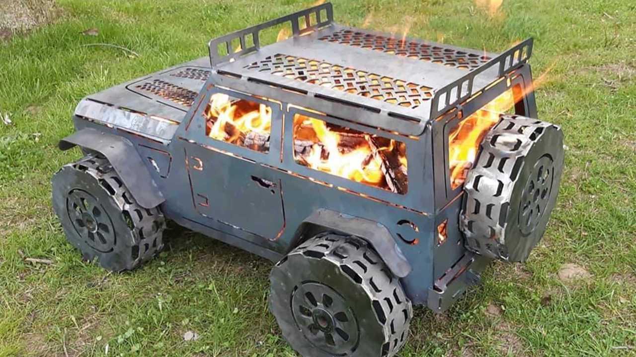 Jeep Wrangler chimenea de forja