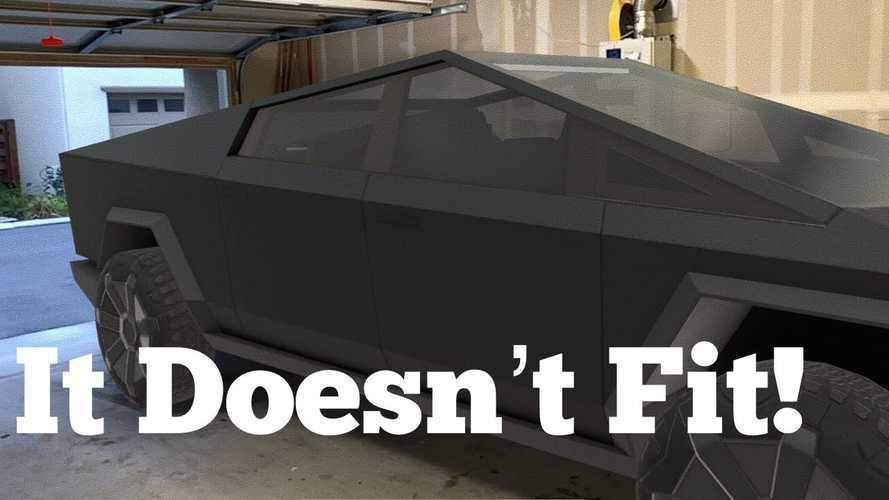 Ahora puedes ver si la Tesla Cybertruck cabe en tu garaje