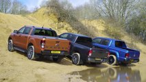 Ford Ranger, Toyota Hilux, Volkswagen Amarok test video