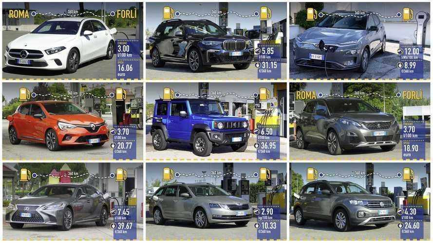 Consumi Reali, ecco le 12 auto più interessanti (efficienti e no)