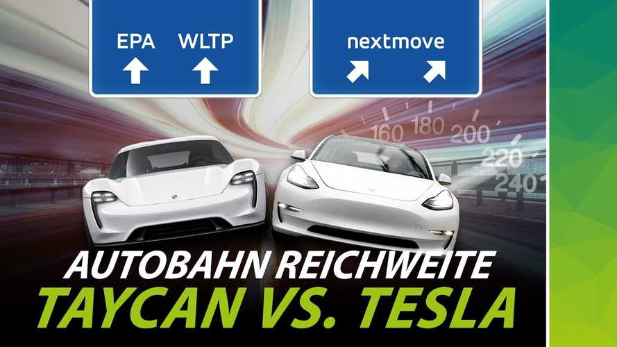 Real-World Range Tested: Porsche Taycan Vs Tesla Model 3 On Autobahn