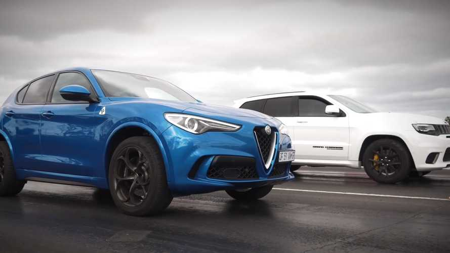 Jeep Trackhawk Vs Stelvio Quadrifoglio Drag Race Is Neck And Neck