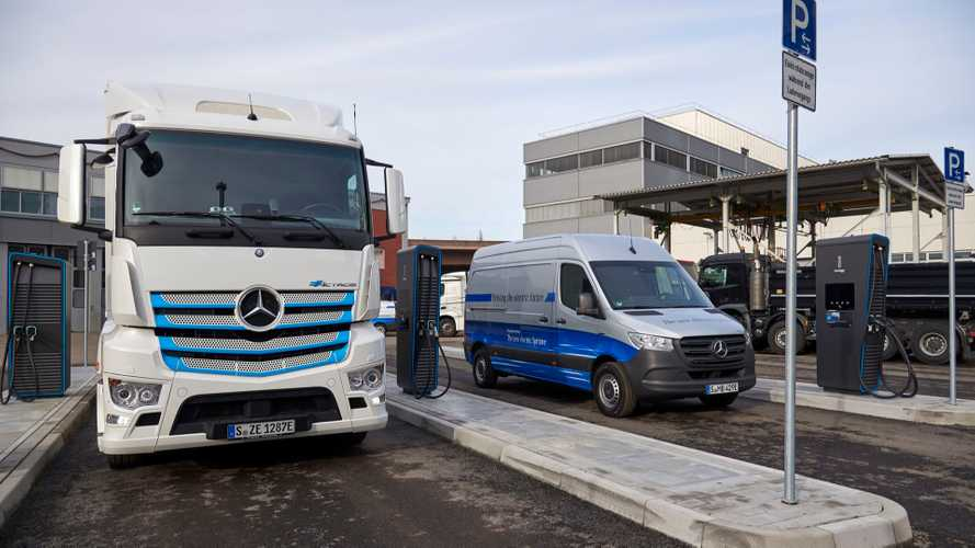 Daimler Shows Its New 1 MW Charging Park For Commercial Vehicles