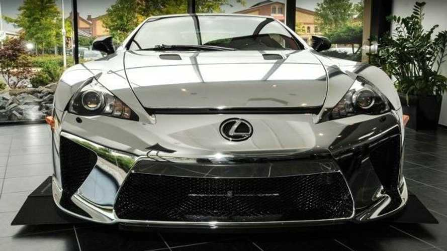 541-mile Lexus LFA in chrome on sale for over £750,000