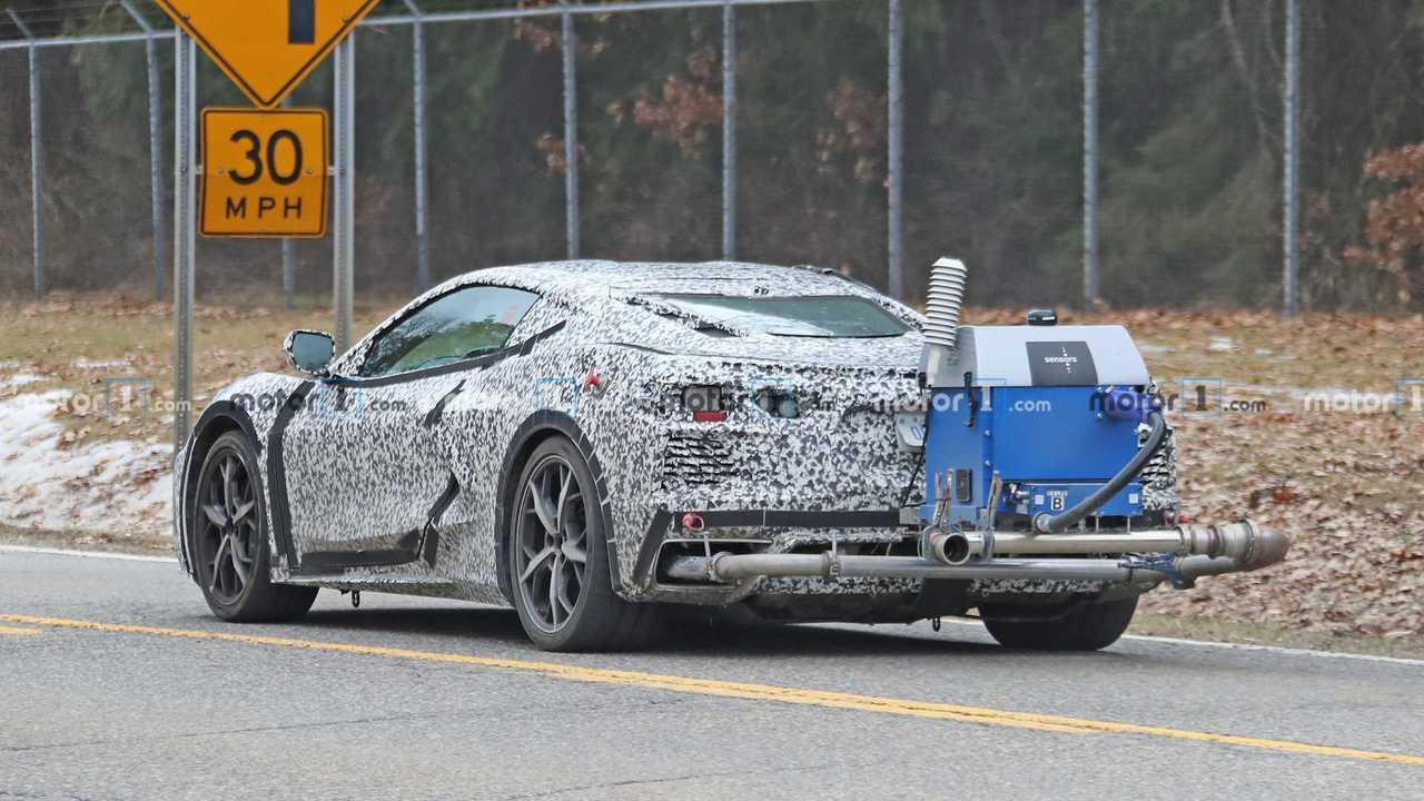 Chevrolet Corvette Emissions Testing Spy Photo