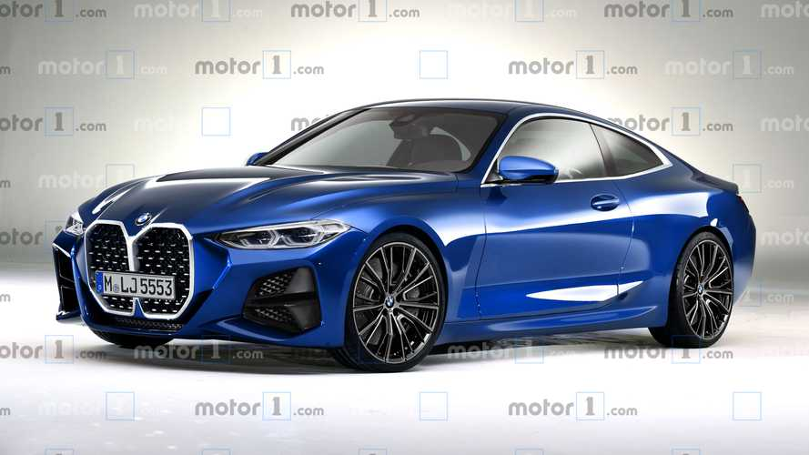BMW 4 Series rendering shows off the big grille, angular styling